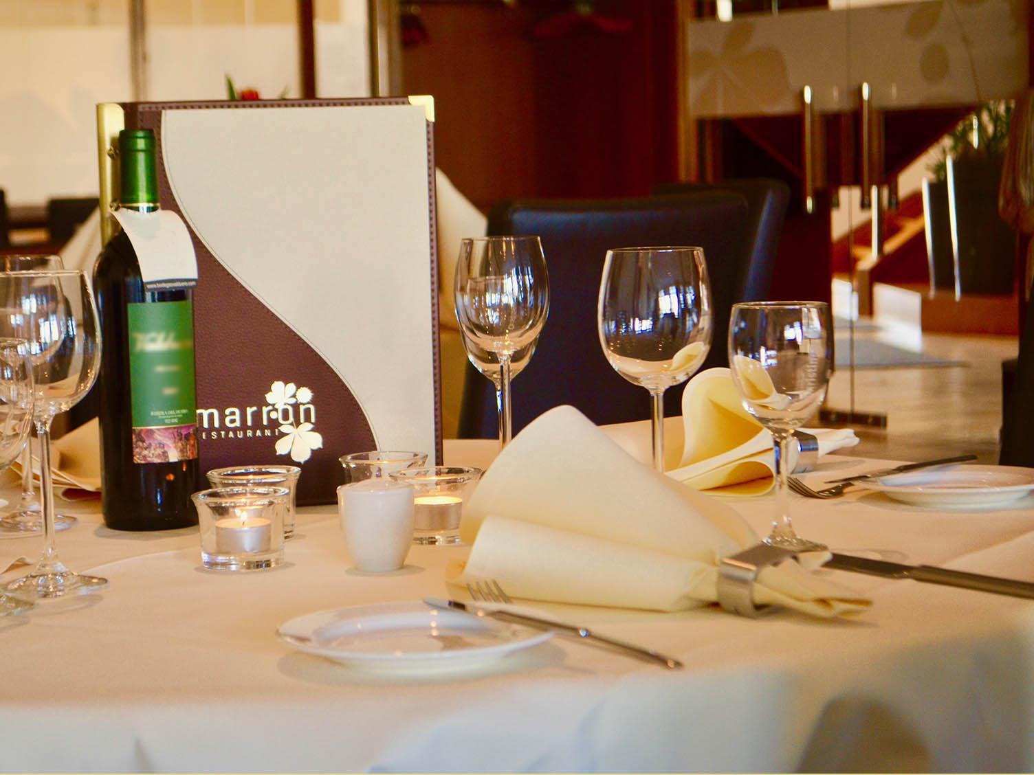 Restaurant Tischdekoration Beispiel Ambiente Lemarron Restaurant